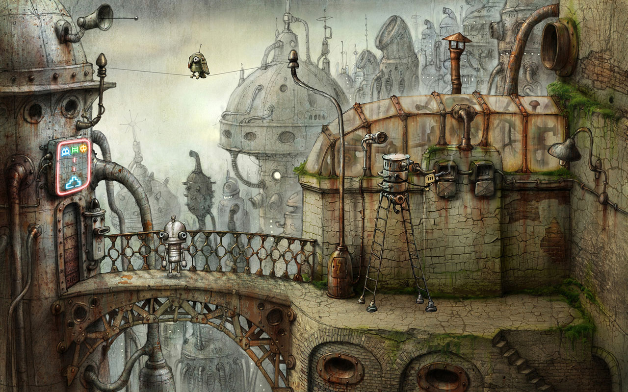 Machinarium- A point-and-click adventure game
